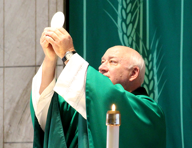 Msgr. Tom Celebrating Mass