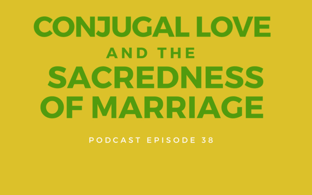 38: Conjugal Love and the Sacredness of Marriage